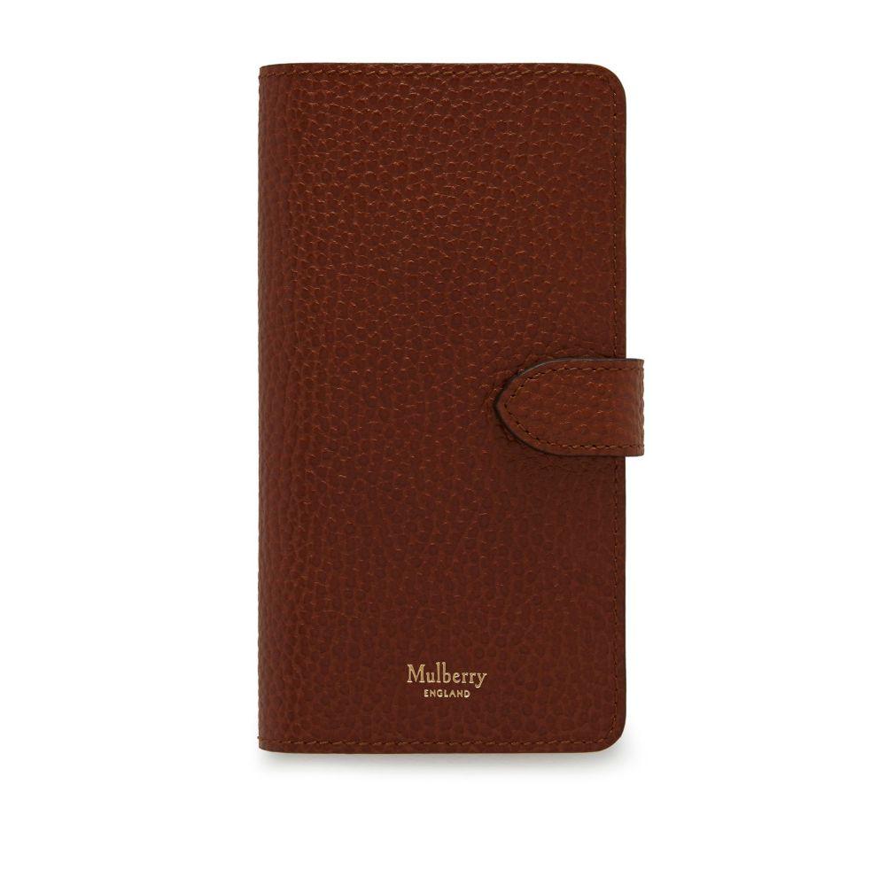マルベリー Mulberry レディース iPhone (X)ケース【Iphone X/xs Flip Case】oak