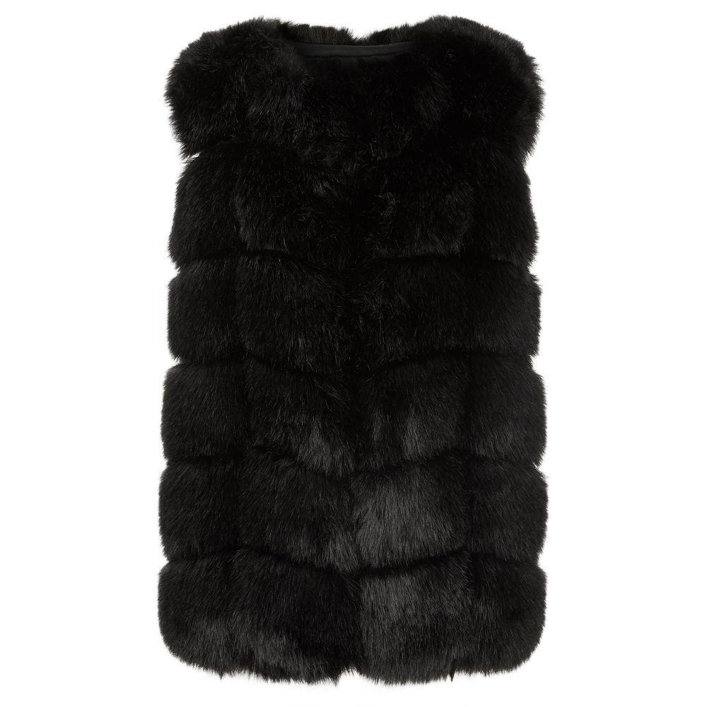 ジュームズ レイクランド James Lakeland レディース トップス ベスト・ジレ【Faux Fur Long Gilet】black