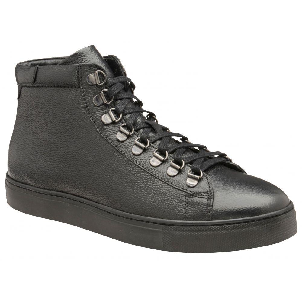 フランクライト Frank Wright メンズ シューズ・靴 スニーカー【Gambon Leather Trainers】black leather