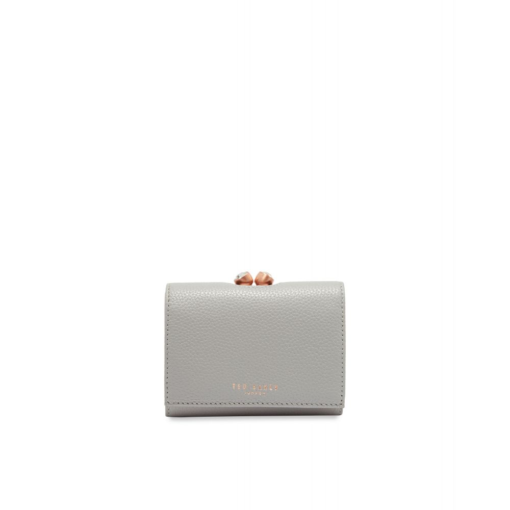 テッドベーカー Ted Baker レディース 財布【Valery Mini Leather Bobble Purse】light grey