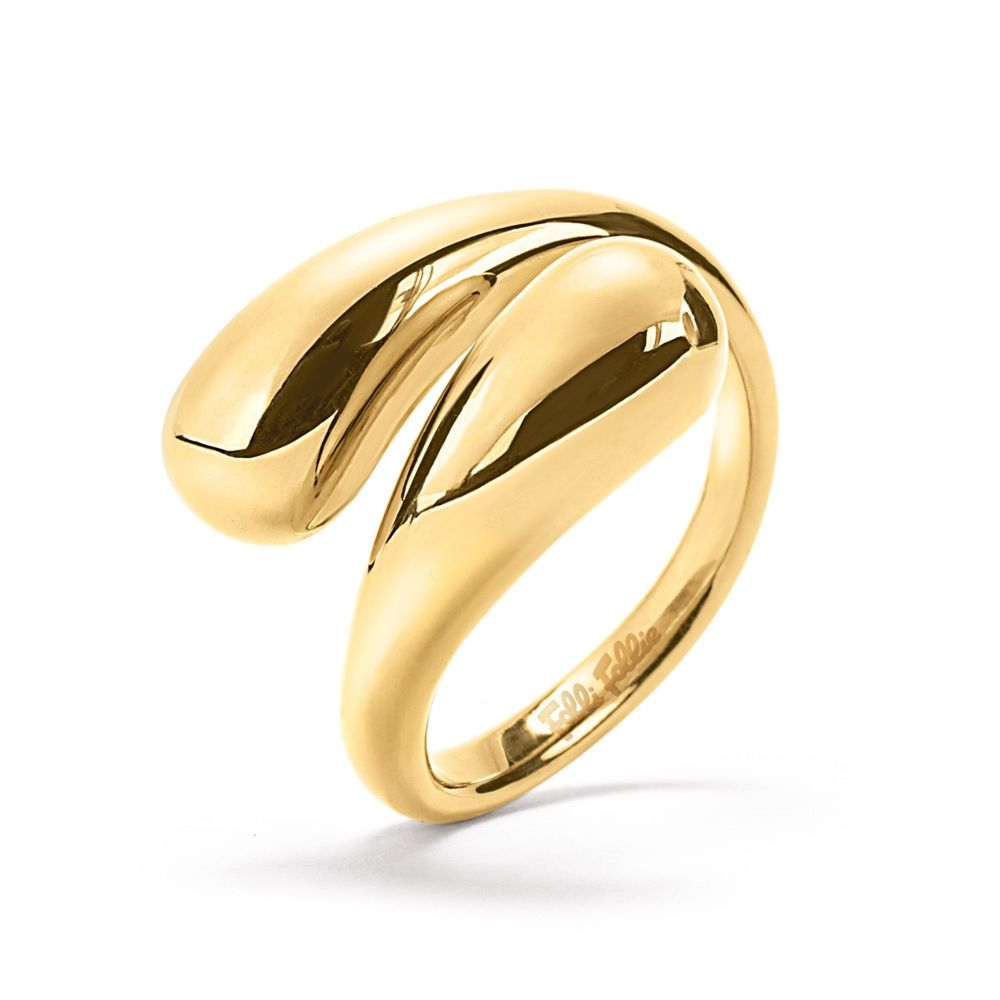 フォリフォリ Folli Follie レディース ジュエリー・アクセサリー 指輪・リング【Style Drops Gold Plated Ring】gold