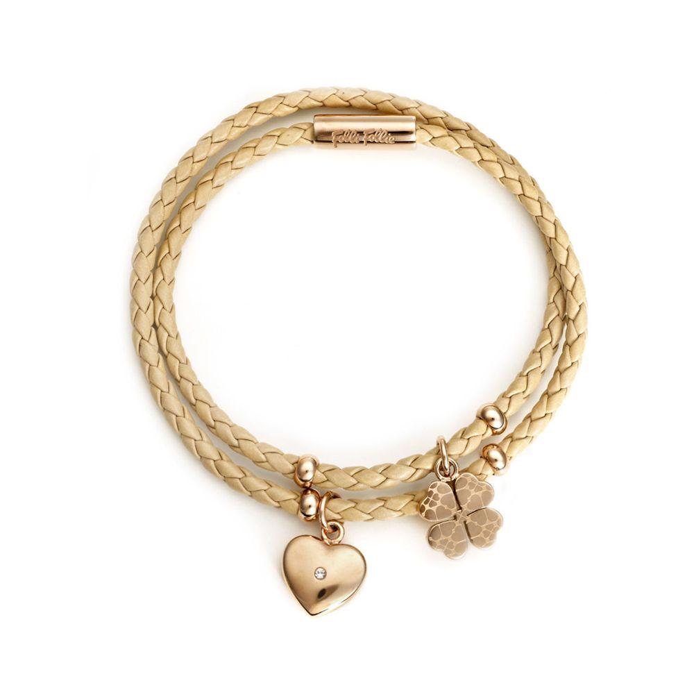フォリフォリ Folli Follie レディース ジュエリー・アクセサリー ブレスレット【Heart4heart Sweetheart Bracelet】beige