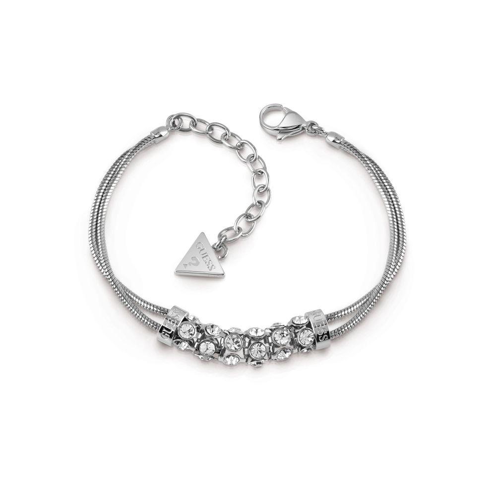 ゲス Guess レディース ジュエリー・アクセサリー ブレスレット【Rhodium Plated Double Bracelet】silver