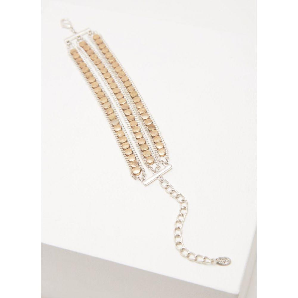 ミルトン ベルベット Mint Velvet レディース ジュエリー・アクセサリー ブレスレット【Layered Disc & Chain Bracelet】metallic