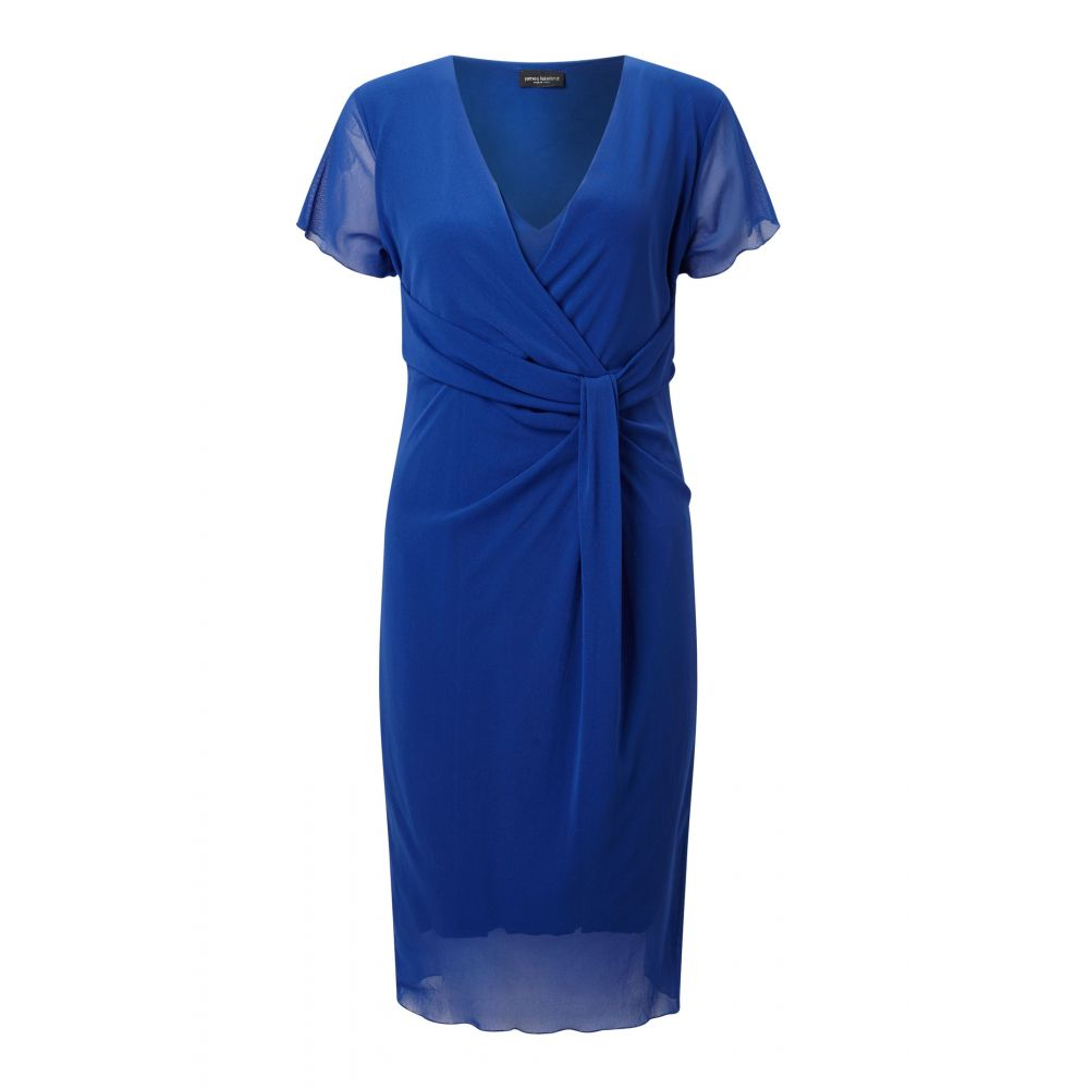 ジュームズ レイクランド James Lakeland レディース ワンピース・ドレス ボディコンドレス【Tulle Knot Dress】blue
