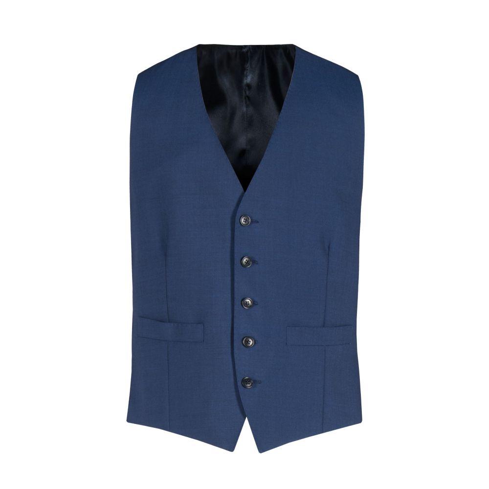 アレクサンダー オブ イングランド Alexandre of England メンズ トップス ベスト・ジレ【Tadley Blue Slim Vest】blue