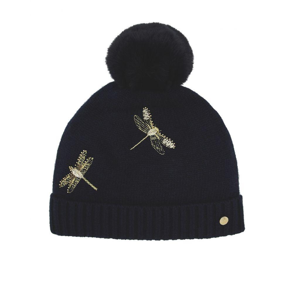 テッドベーカー Ted Baker レディース 帽子 ニット【Dragonfly Pom Hat】navy