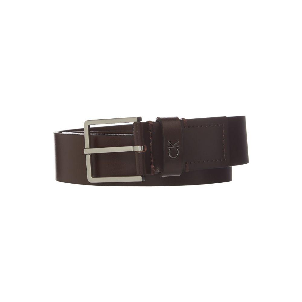 カルバンクライン Calvin Klein メンズ ベルト【Large Ck Logo Belt】brown