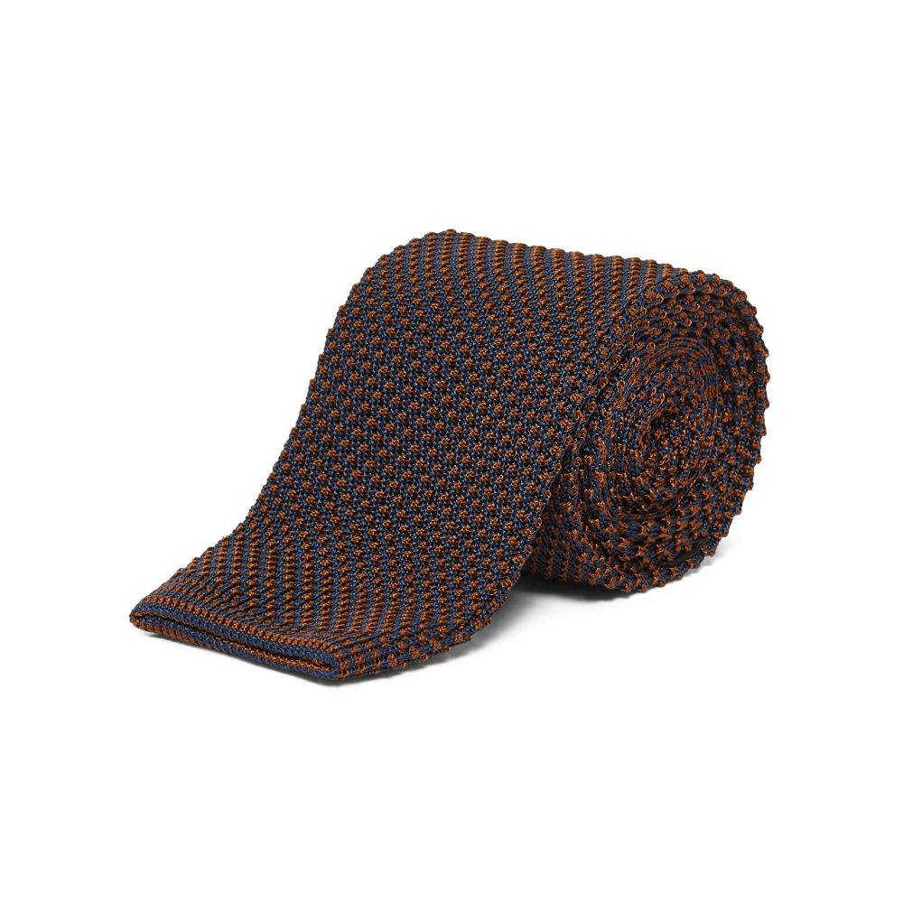 チェスター バリー Chester Barrie メンズ ネクタイ【Spot Knitted Tie】brown