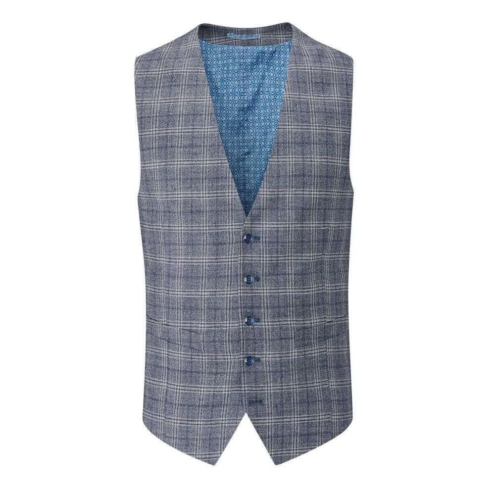 スコープス Skopes メンズ トップス ベスト・ジレ【Syracuse Linen Wool Blend Waistcoat】blue