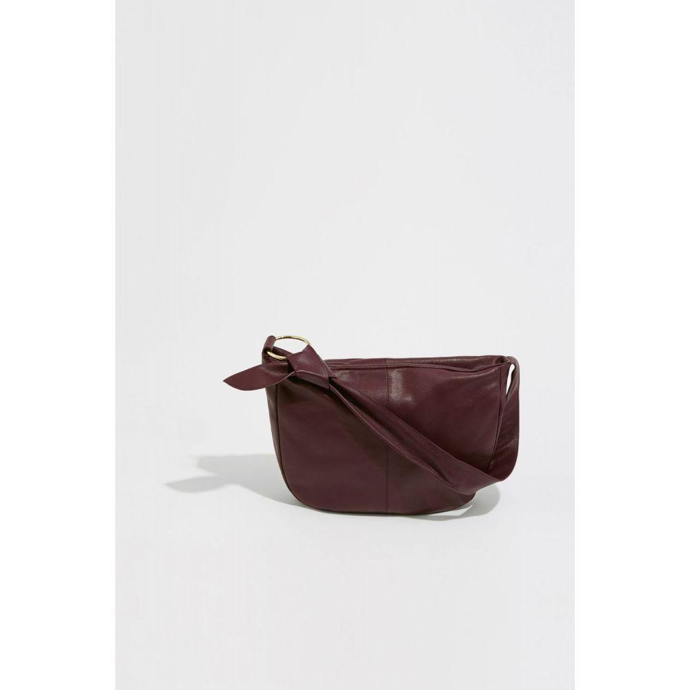 ウェアハウス Warehouse レディース バッグ ショルダーバッグ【Leather Slouchy Shoulder Bag】berry