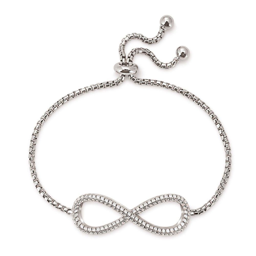 フォリフォリ Folli Follie レディース ジュエリー・アクセサリー ブレスレット【Fashionably Silver Infinity Bracelet】silver