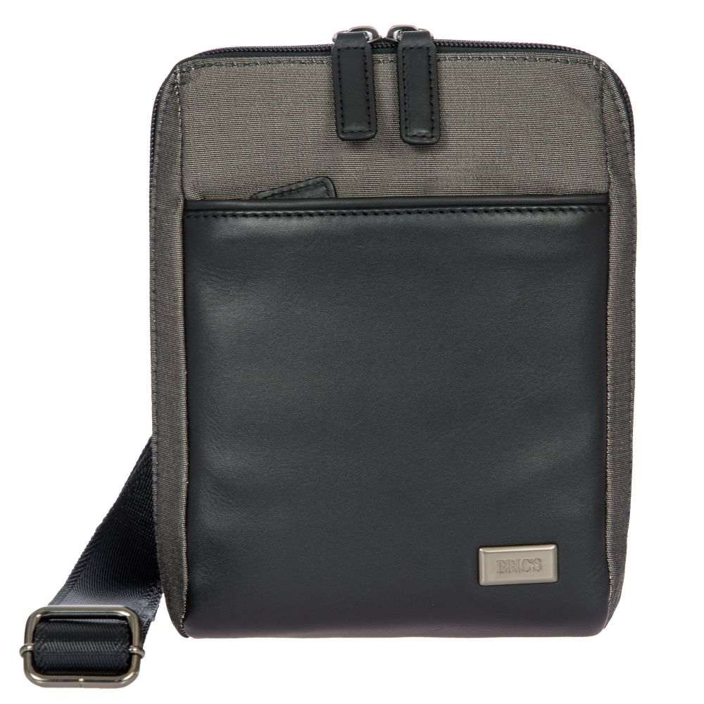 ブリックス Brics ユニセックス バッグ【Monza Grey & Black Small Slim Crossbody Bag】black & grey