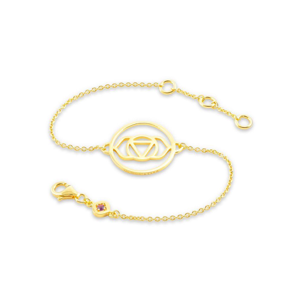 デイジーロンドン Daisy London レディース ジュエリー・アクセサリー ブレスレット【Brow Chakra Chain Bracelet】gold