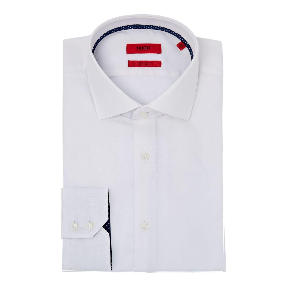 ヒューゴ ボス Hugo メンズ トップス シャツ【Veraldi Regular Contrast Trim Oxford Shirt】white