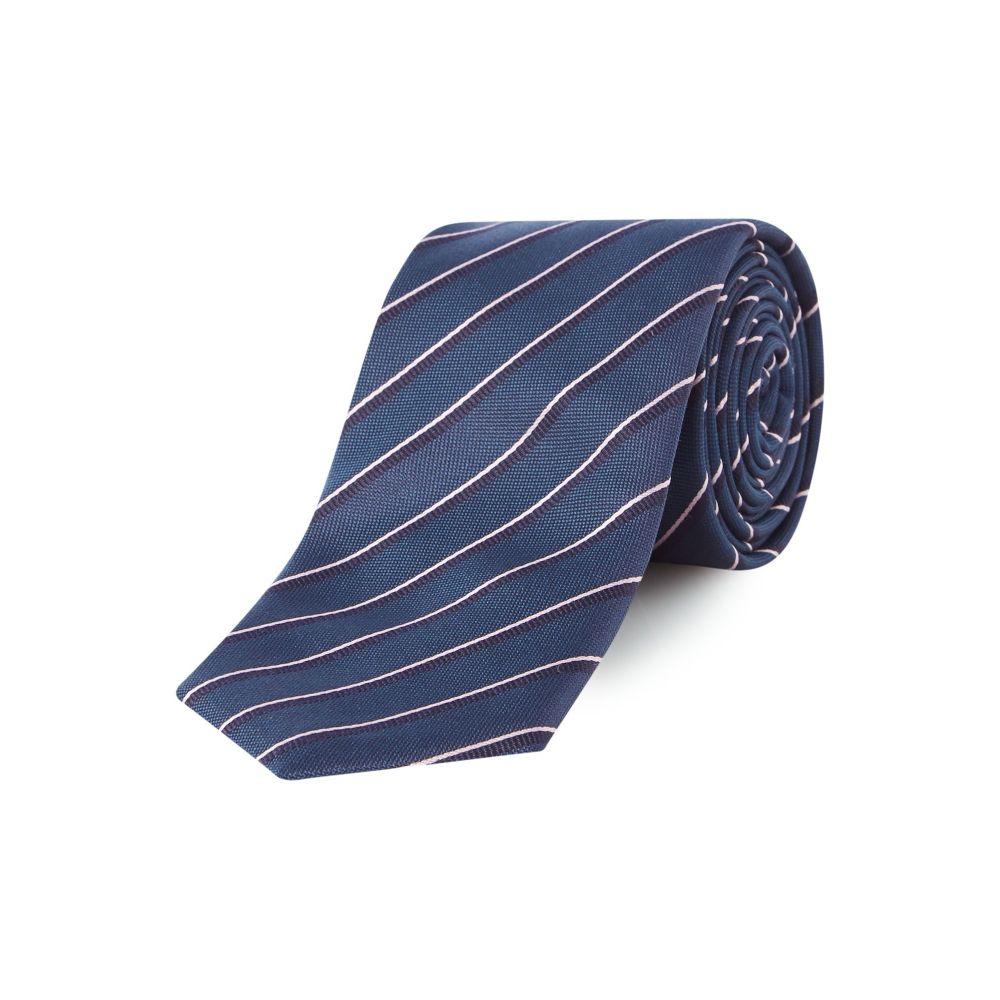 ヒューゴ ボス Hugo Boss メンズ ネクタイ【Diagonal Fine Stripe Tie】navy