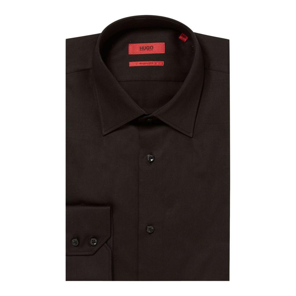 ヒューゴ ボス Hugo メンズ トップス シャツ【Velwin Regular Fit Satin Finish Shirt】black