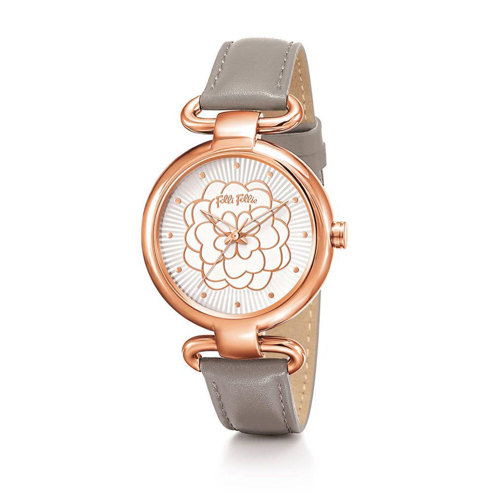 フォリフォリ Folli Follie レディース 腕時計【Santorini Flower Classy Grey Watch】