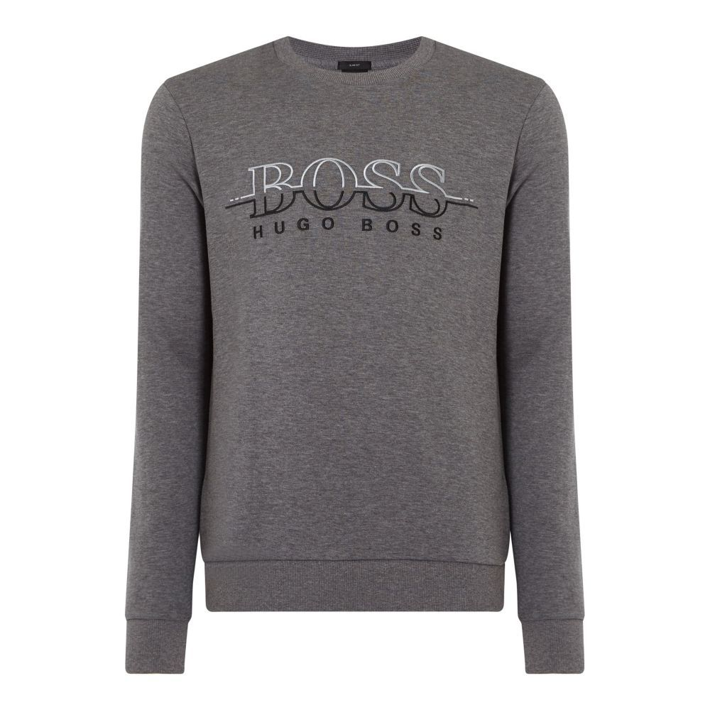 ヒューゴ ボス Hugo Boss メンズ トップス スウェット・トレーナー【Salbo Crew Neck Sweatshirt】grey marl