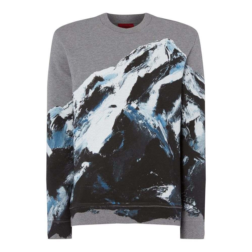 ヒューゴ ボス Hugo メンズ トップス スウェット・トレーナー【Dountain Mountain Print Sweatshirt】grey
