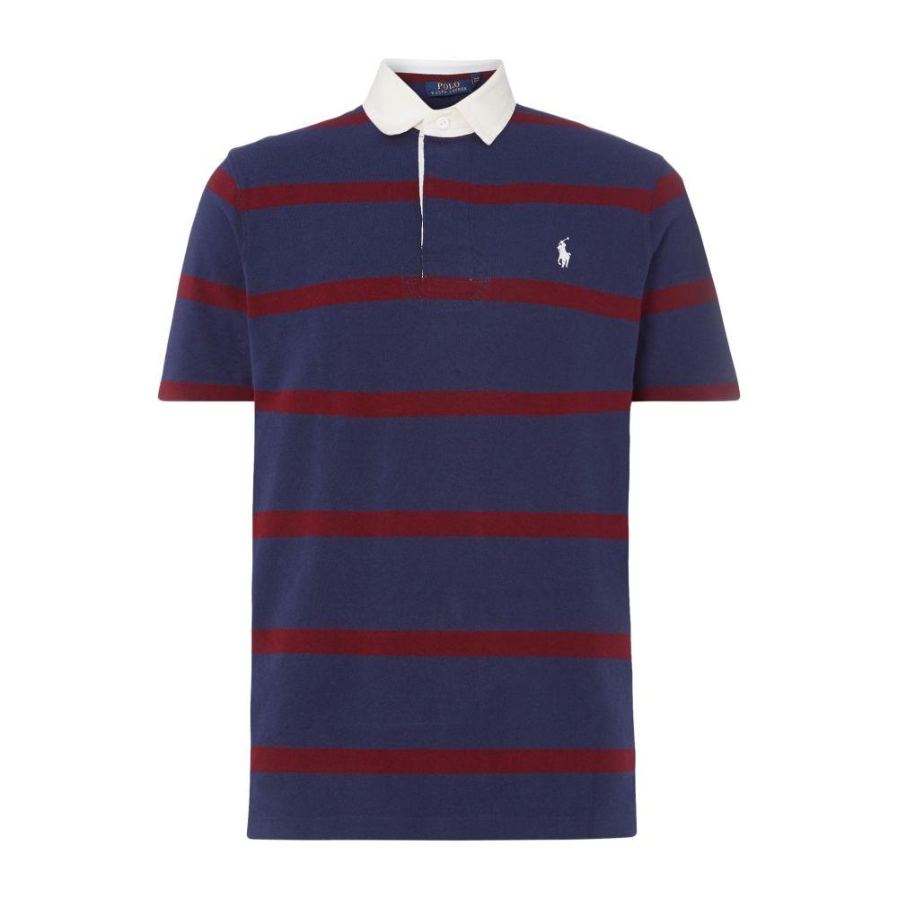 ラルフ ローレン Polo Ralph Lauren メンズ トップス ポロシャツ【Striped Rugby】navy