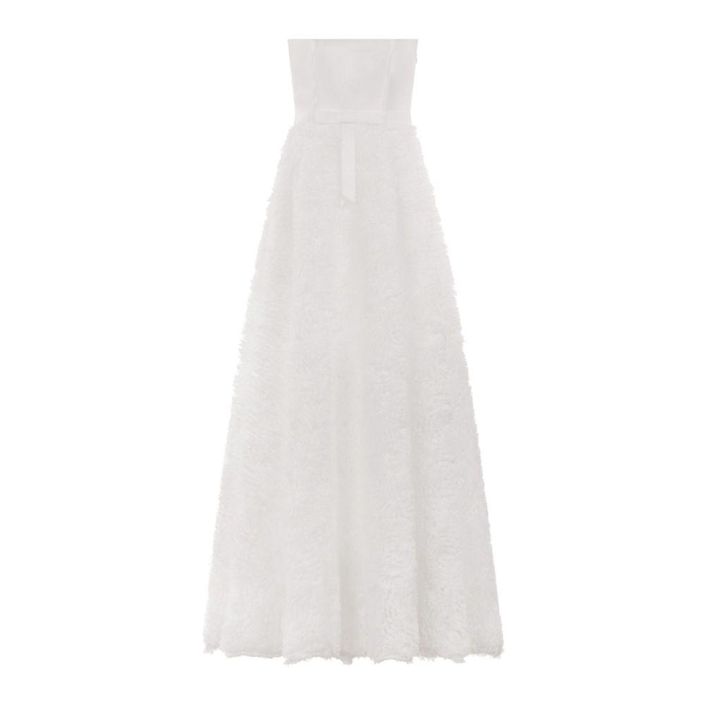 チチロンドン Chi Chi London レディース ワンピース・ドレス パーティードレス【Bridal 3d Floral Bandeau Maxi Dress】white