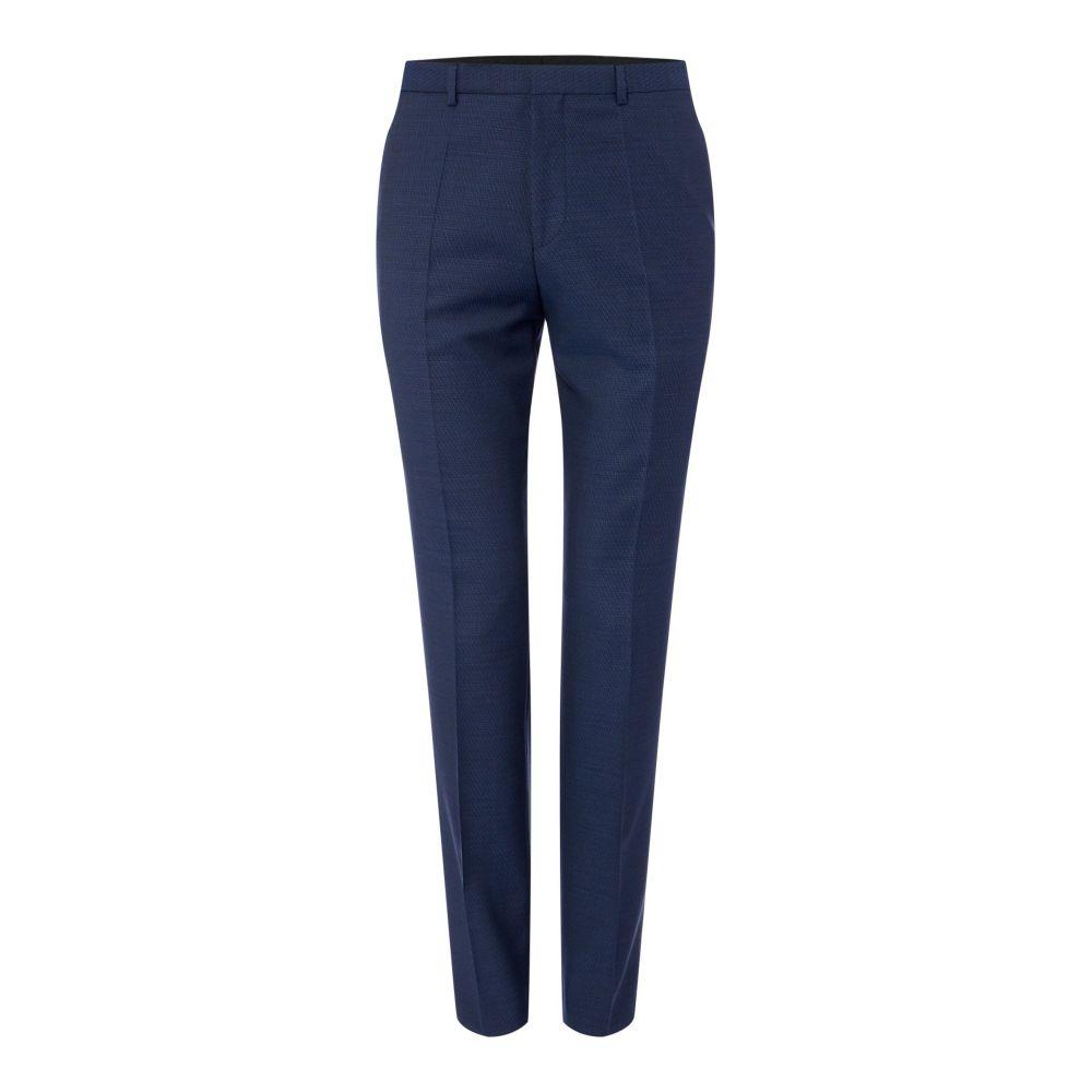 ヒューゴ ボス Hugo メンズ ボトムス・パンツ スラックス【Hets Extra Slim Textured Two-piece Suit Trousers】bright blue