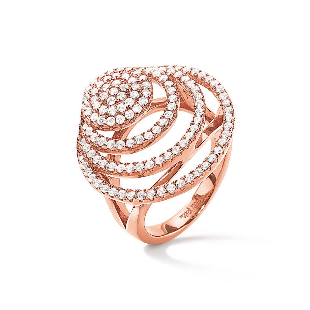 フォリフォリ Folli Follie レディース ジュエリー・アクセサリー 指輪・リング【Cyclos Rose Gold Ring】rose gold