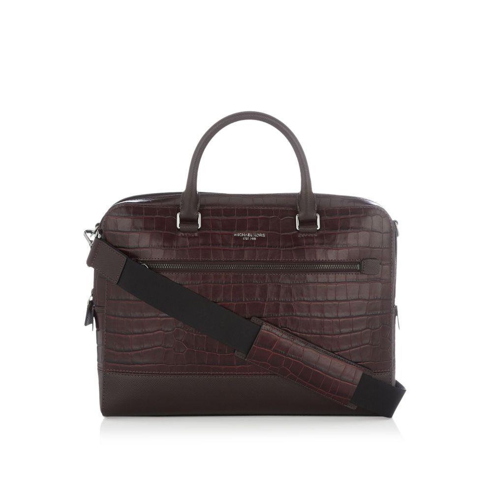 マイケル コース Michael Kors メンズ バッグ ビジネスバッグ・ブリーフケース【Harrison Zip Briefcase Bag】burgundy