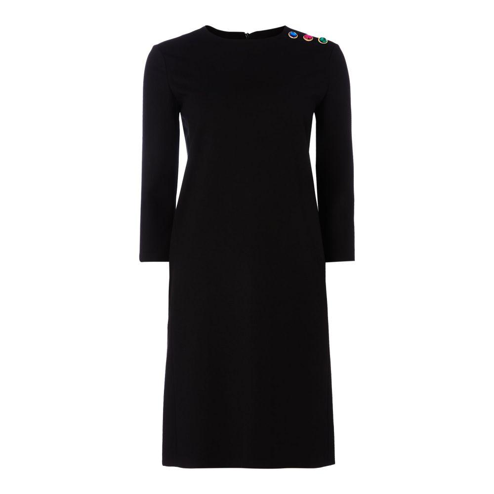 エスカーダ Escada レディース ワンピース・ドレス ワンピース【Long Sleeve Black Dress With Shoulder Detail】black