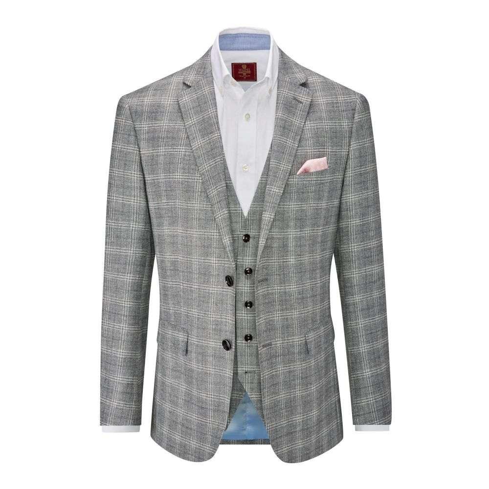 スコープス Skopes メンズ アウター スーツ・ジャケット【Syracuse Linen Wool Blend Jacket】grey