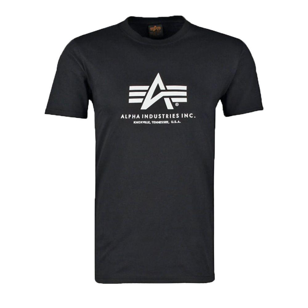 アルファ インダストリーズ Alpha Industries メンズ トップス【Alpha Logo T】black