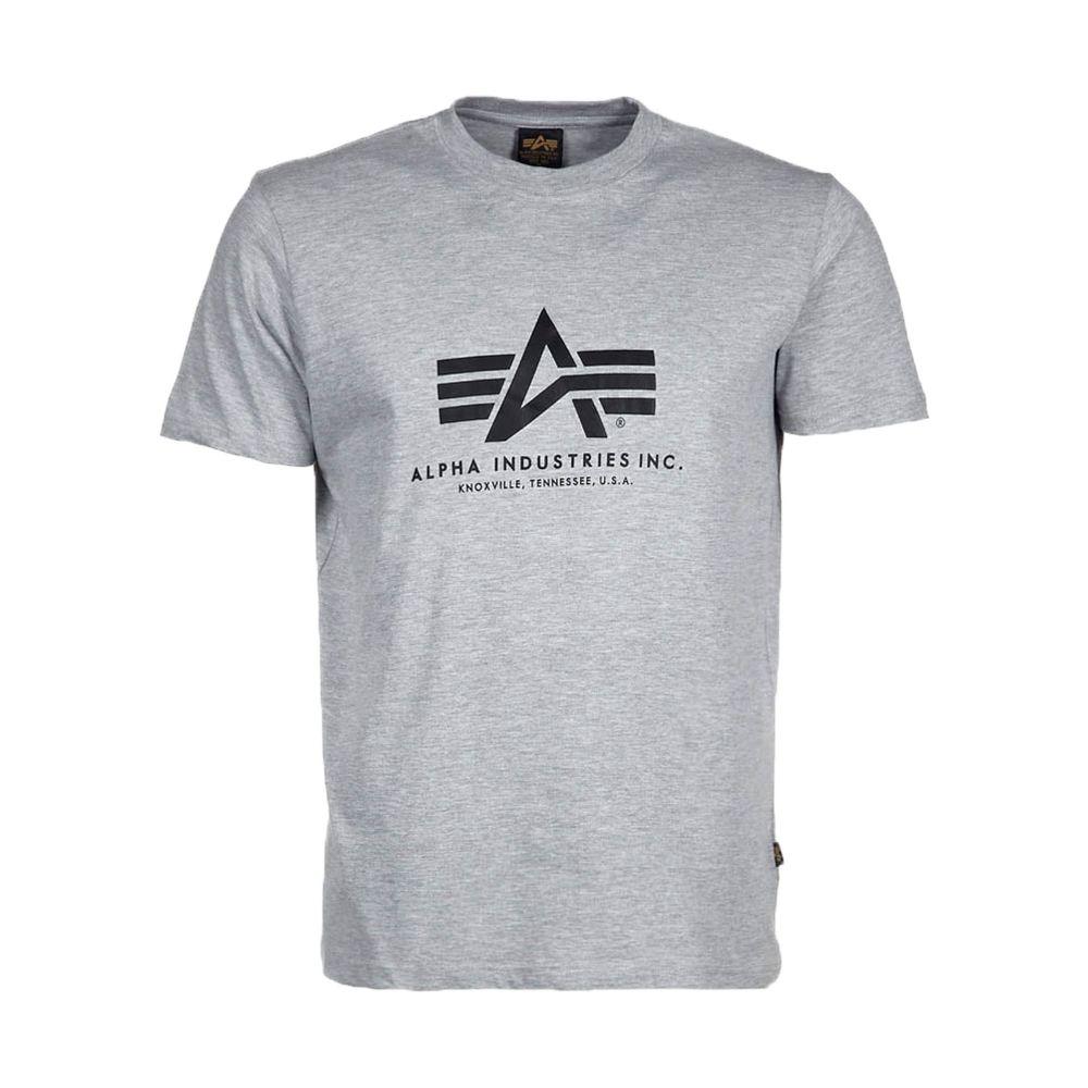 アルファ インダストリーズ Alpha Industries メンズ トップス【Alpha Logo T】grey