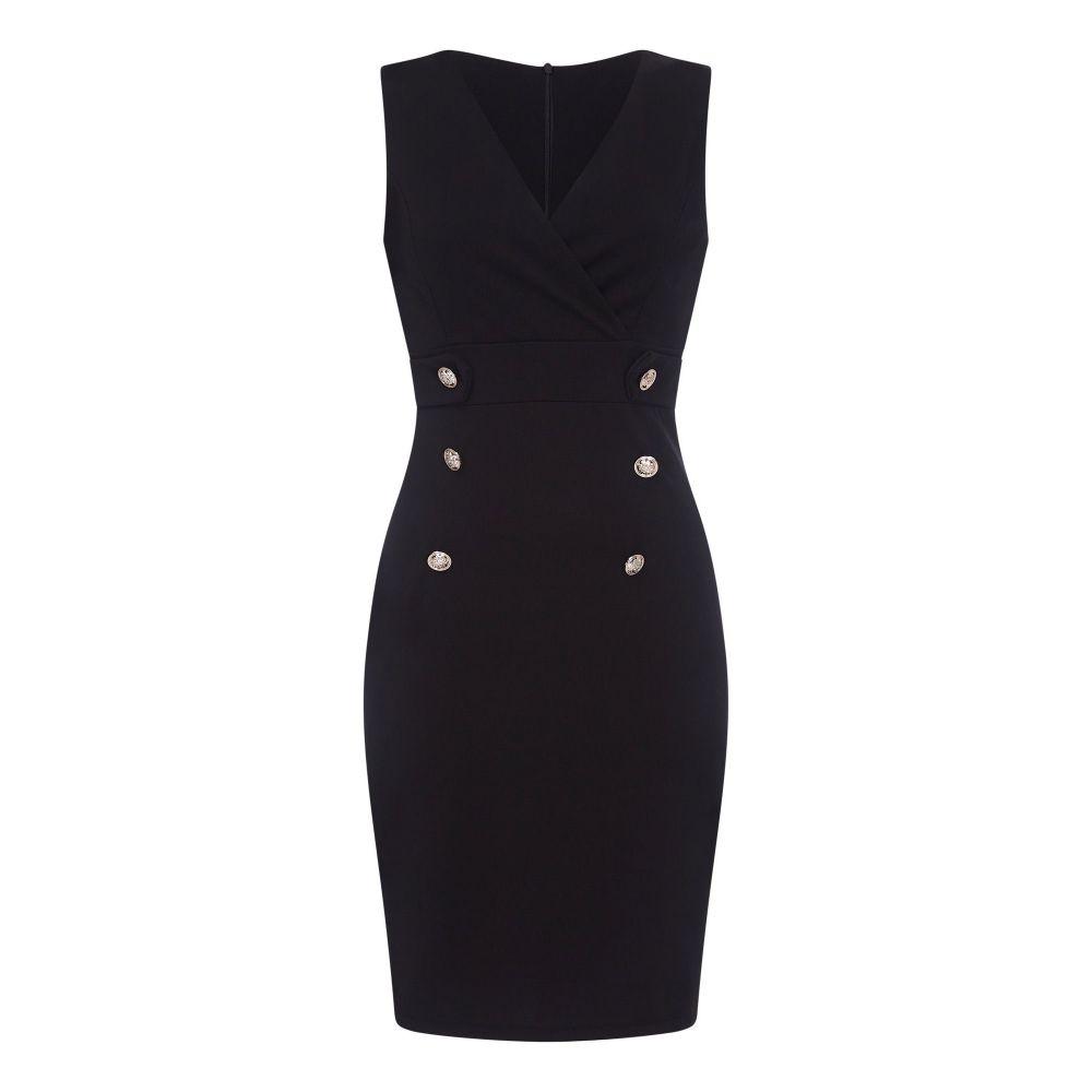 メラ ロンドン Mela London レディース ワンピース・ドレス ボディコンドレス【Military Bodycon Dress】black
