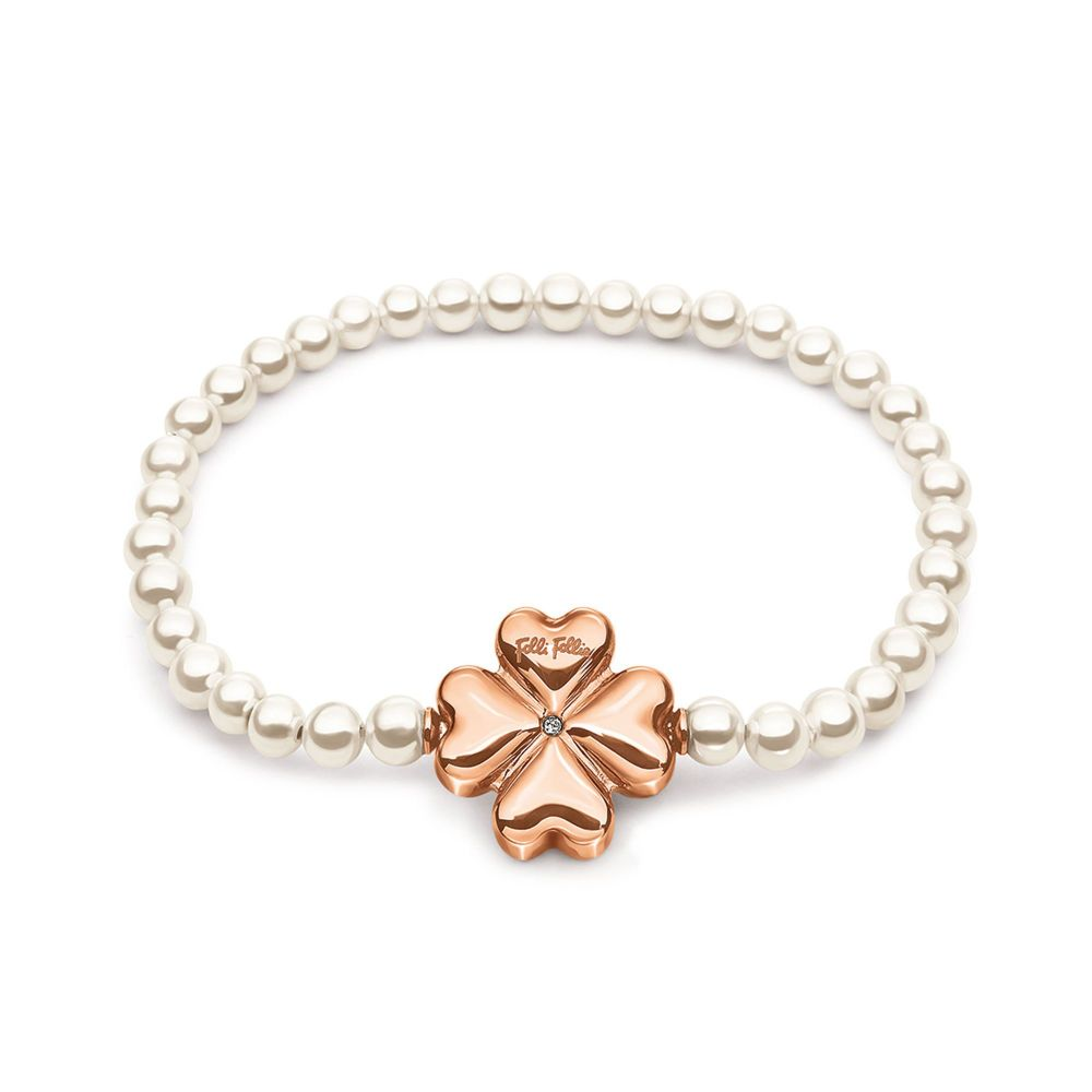 フォリフォリ Folli Follie レディース ジュエリー・アクセサリー ブレスレット【Pearl Muse Rose Gold Bracelet】rose gold