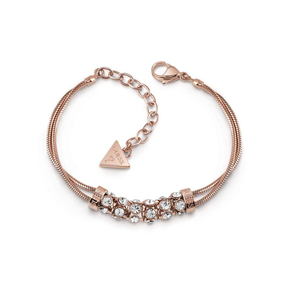 ゲス Guess レディース ジュエリー・アクセサリー ブレスレット【Rose Gold Plated Double Bracelet】rose gold