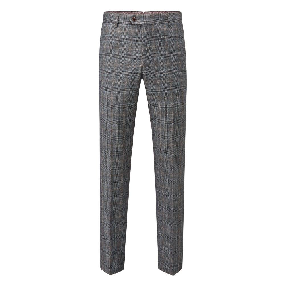 スコープス Skopes メンズ ボトムス・パンツ スラックス【Warley Check Tailored Suit Trouser】grey