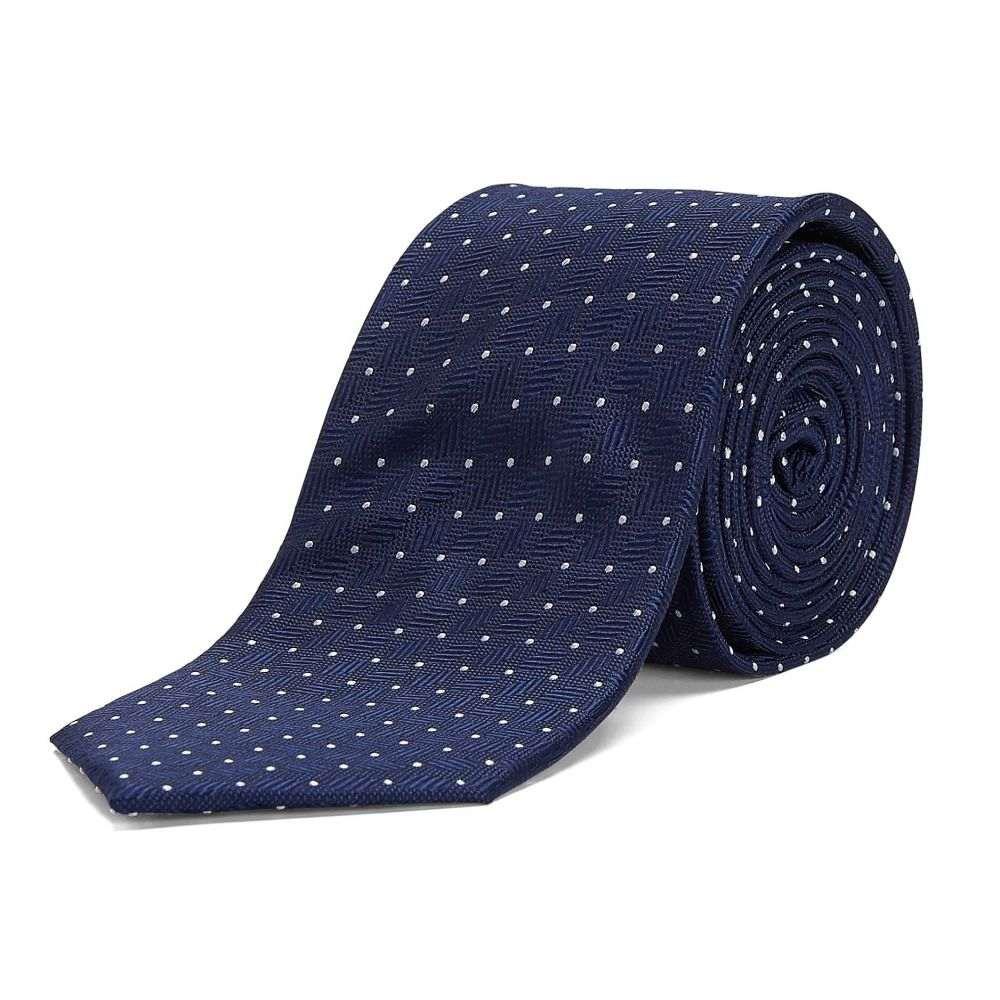 チェスター バリー Chester Barrie メンズ ネクタイ【Micro Spot Tie】navy