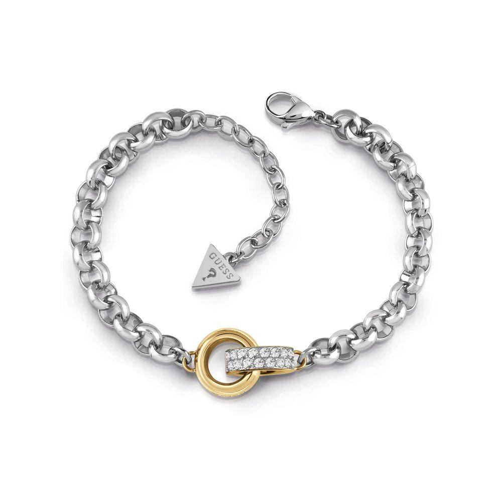 ゲス Guess レディース ジュエリー・アクセサリー ブレスレット【Embrace Ring & Large Chain Bracelet】metallic