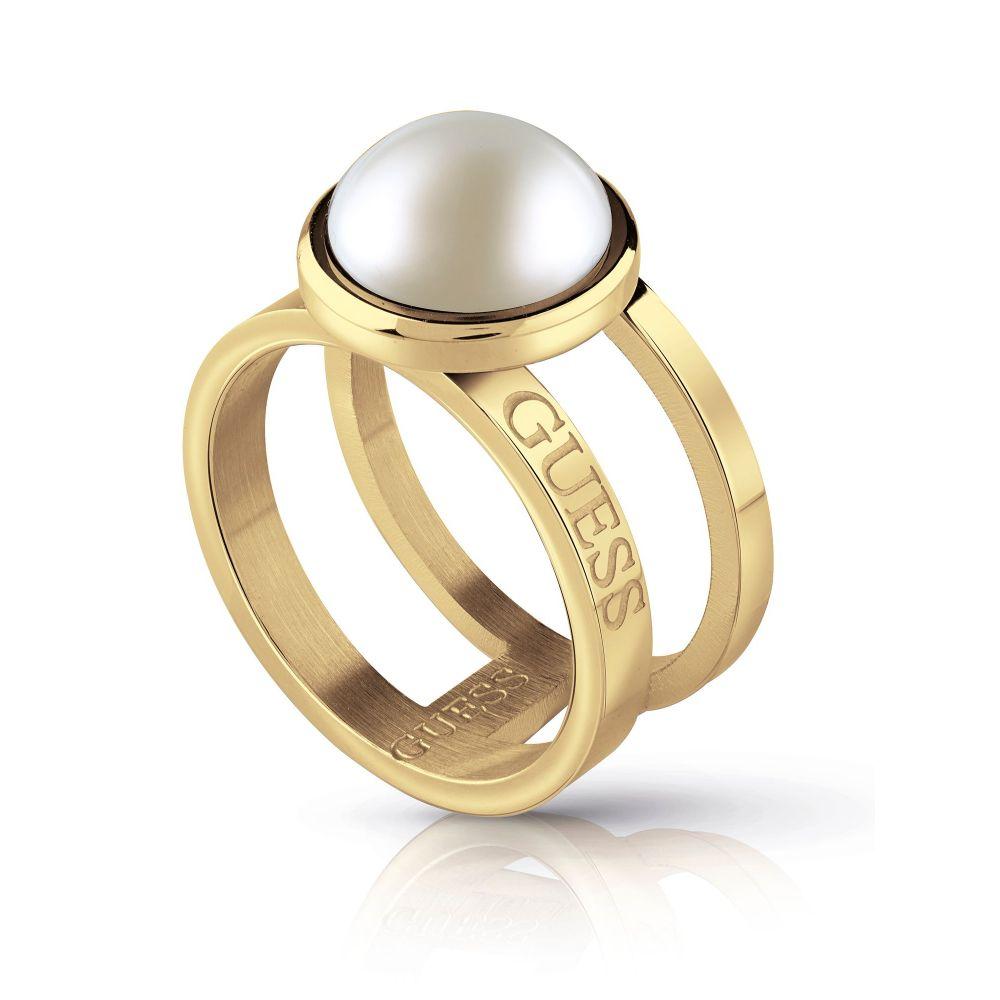 ゲス Guess レディース ジュエリー・アクセサリー 指輪・リング【2 Row & White Pearl Ring】gold