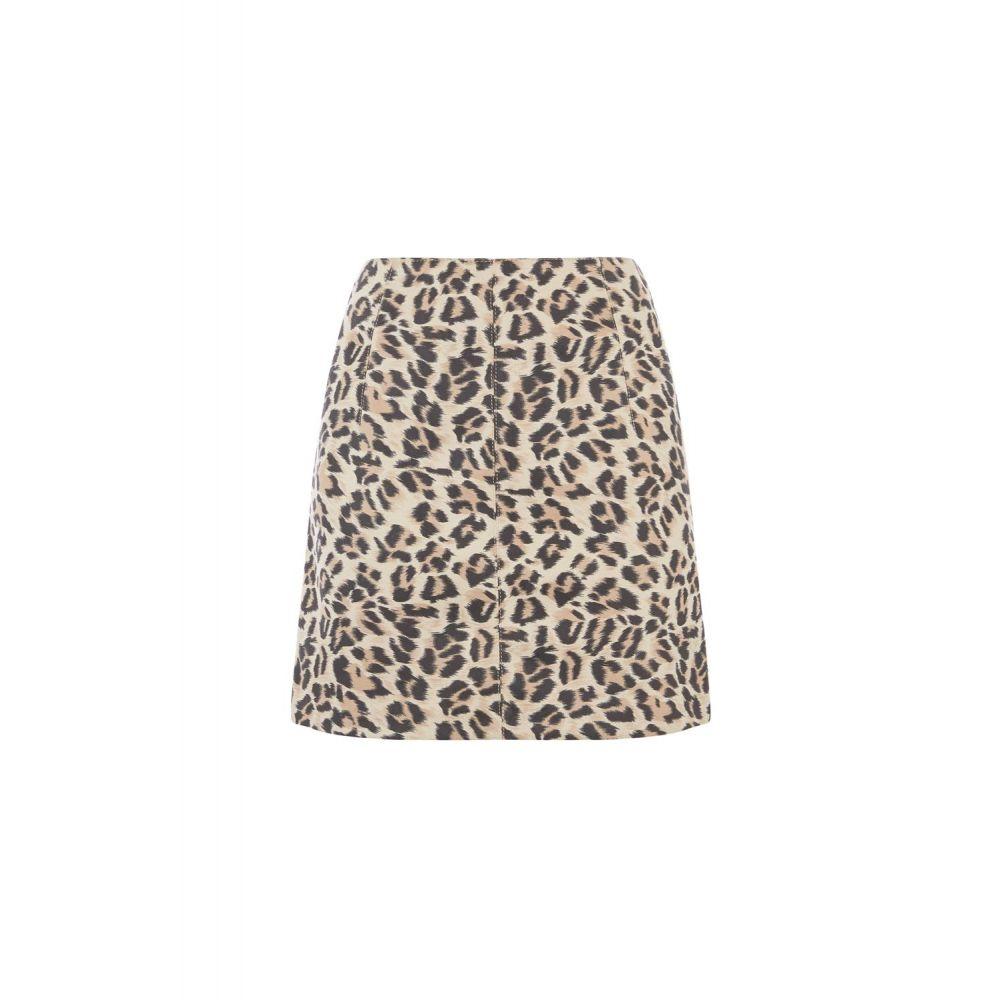 オアシス Oasis レディース スカート ひざ丈スカート【Faux Suede Leopard Skirt】animal