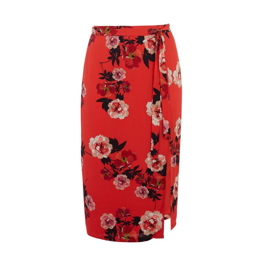 オアシス Oasis レディース スカート ひざ丈スカート【Curve Scarf Floral Skirt*】red multi