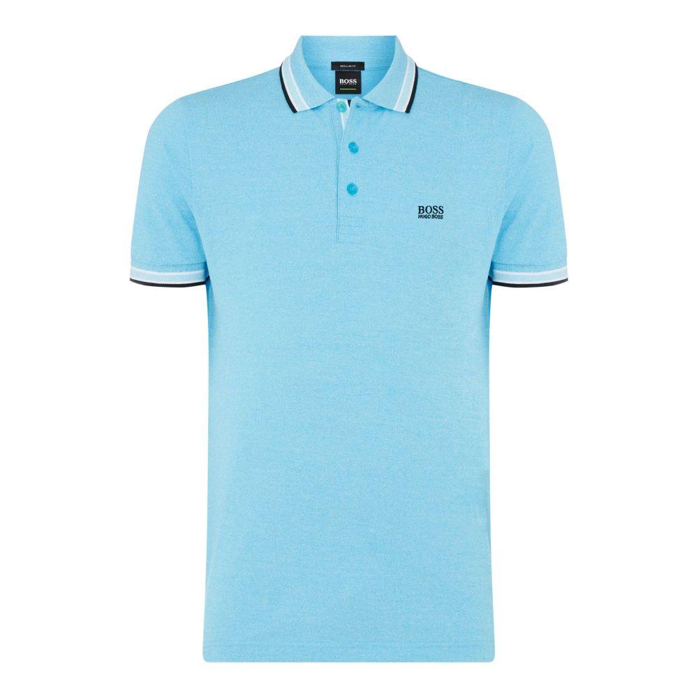 ヒューゴ ボス Hugo Boss メンズ トップス ポロシャツ【Paddy Regular Fit Polo Shirt】ice blue