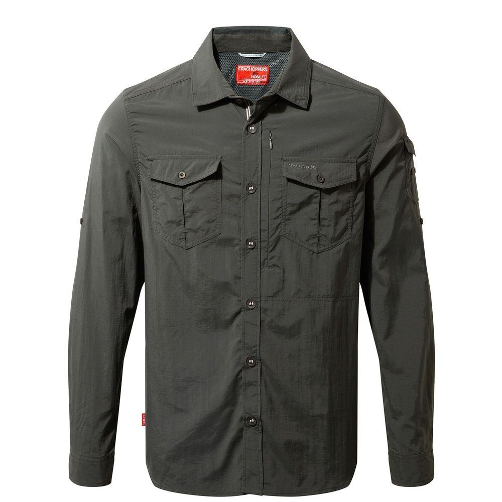クラッグホッパーズ Craghoppers メンズ トップス シャツ【Nosilife Adventure Long Sleeved Shirt】grey