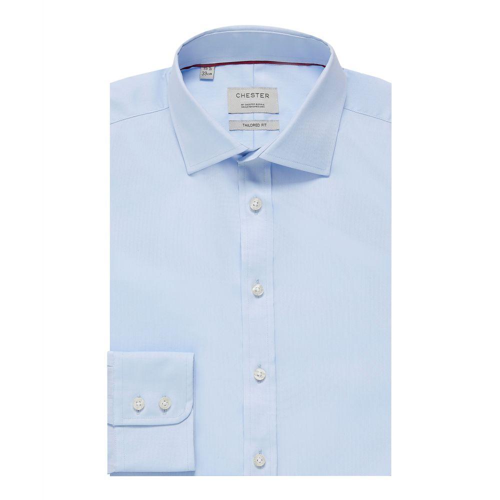 チェスター バリー Chester Barrie メンズ トップス シャツ【Traveller Stretch Shirt】blue