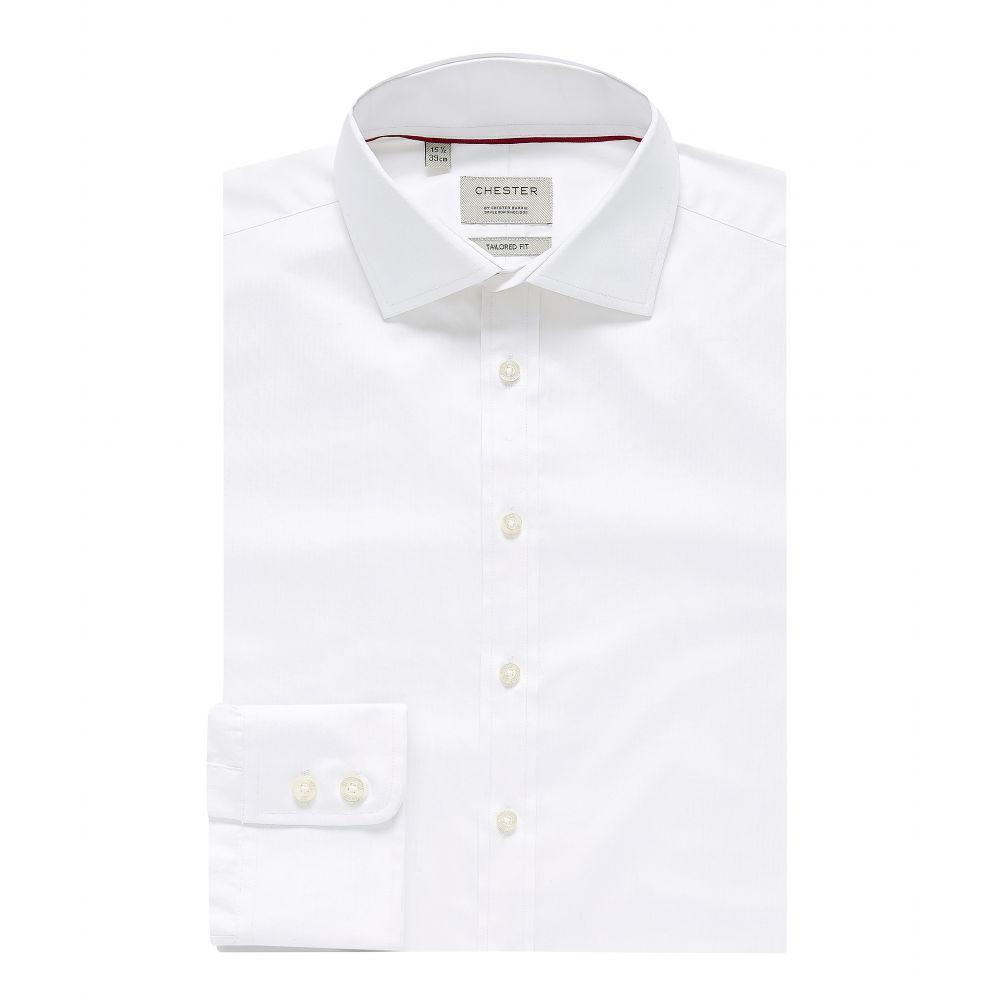 チェスター バリー Chester Barrie メンズ トップス シャツ【Twill Shirt Blue】white