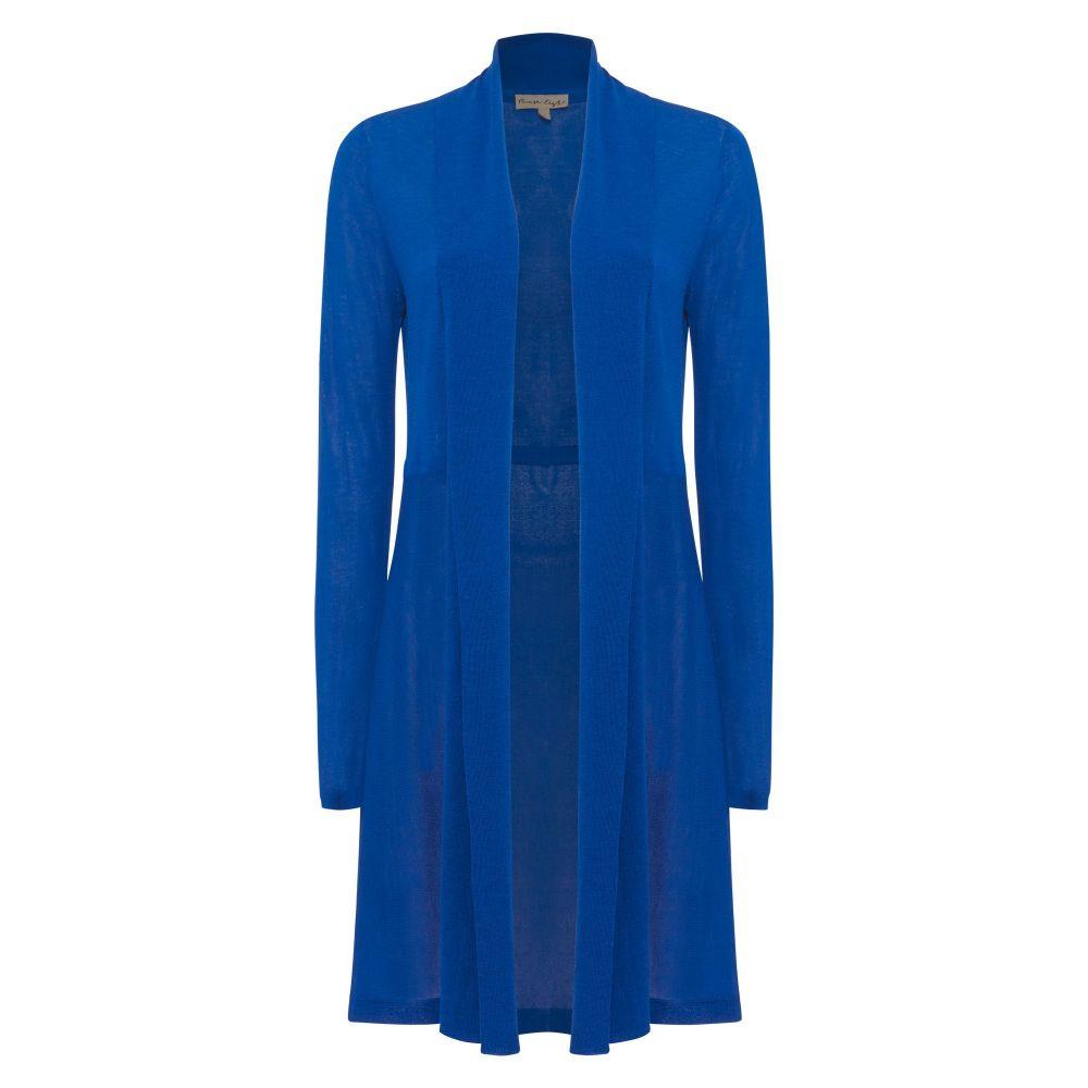 フェーズ エイト Phase Eight レディース トップス カーディガン【Lili Sheer Longline Cardigan】lapis blue