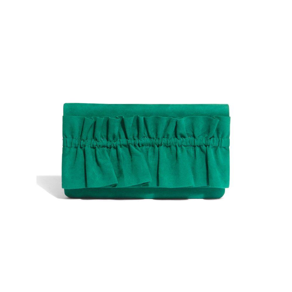 フェーズ エイト レディース Phase エイト Eight レディース バッグ クラッチバッグ Ruffle【Romy Ruffle Front Clutch Bag】emerald, 射水郡:be586a31 --- nem-okna62.ru