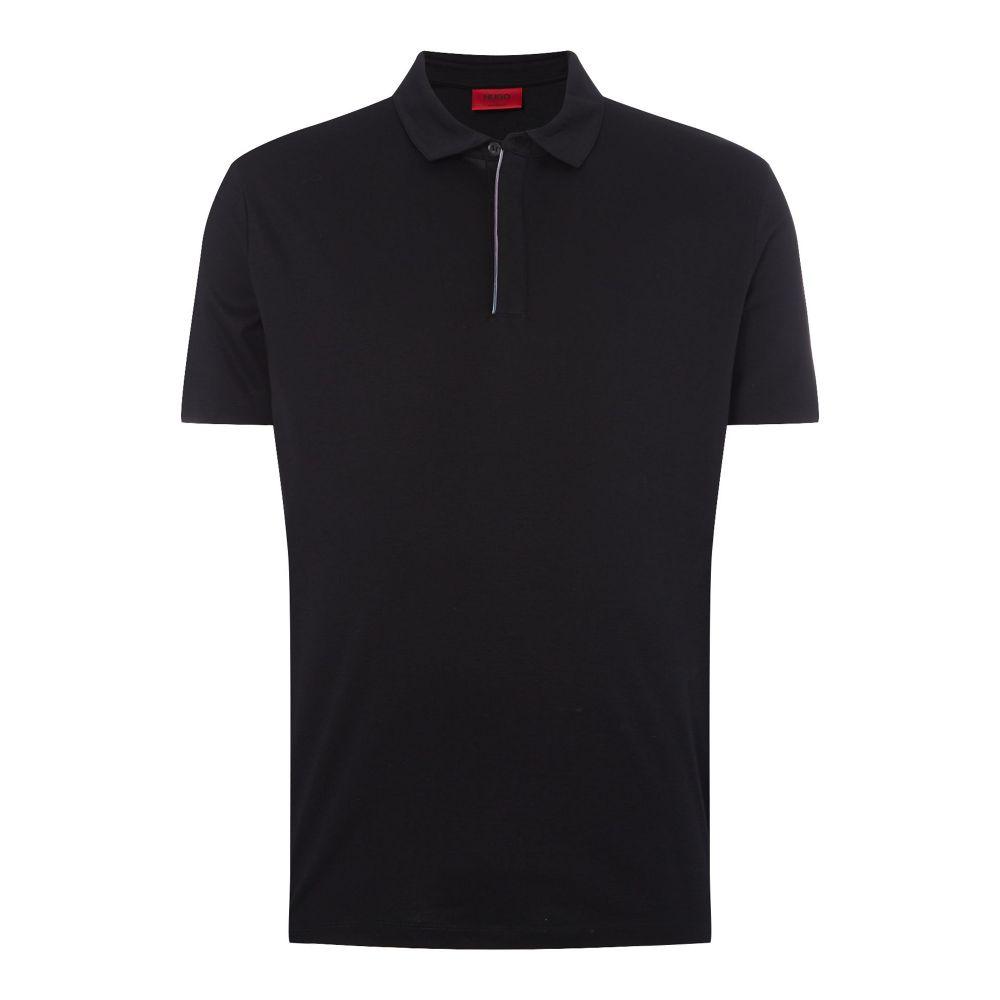 ヒューゴ ボス Hugo メンズ トップス ポロシャツ【Devlin Half Zip Polo Shirt】black