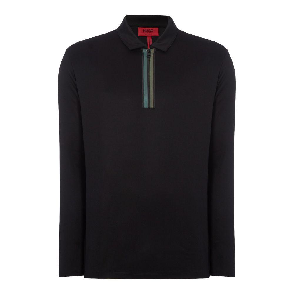 ヒューゴ ボス Hugo メンズ トップス ポロシャツ【Dywel Half Zip Polo Shirt】black